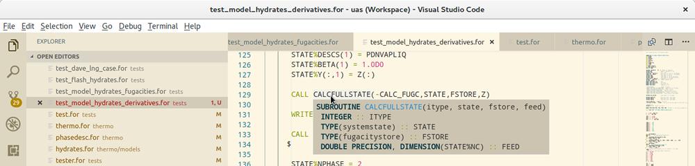 Visual Studio Code for Fortran - Céondo - Fluid Phase Equilibria